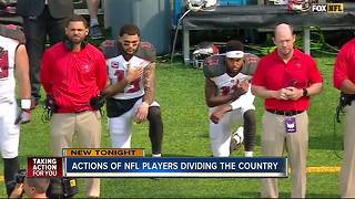 Tampa Bay residents react strongly to actions of NFL players - Video