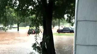 Stillwater Street Flooded After Oklahoma Storm - Video