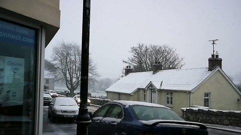 Snow Falls in Village in County Down