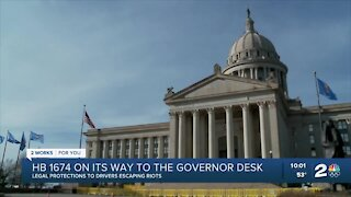 OK bill offering legal protections to drivers escaping riots heads to governor's desk