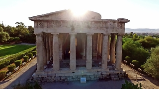 Drone footage of the most well-preserved ancient Greek Temple - Video