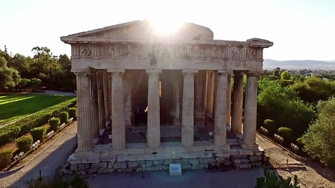 Drone footage of the most well-preserved ancient Greek Temple