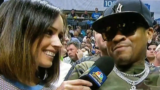 Allen Iverson Was Straight LIT During Drunk Interview at Sixers Game - Video