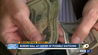 Border wall at center of possible shutdown