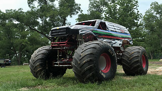 10,000lb Monster Truck Attempts Dangerous Stunt | RIDICULOUS RIDES
