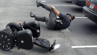 Police Officer Segway Fail - Video