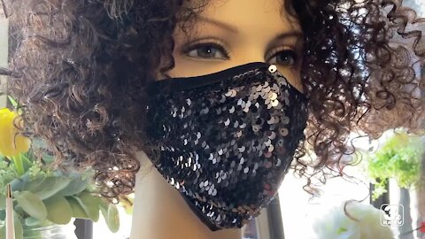 Matching masks to adorn prom dresses newest trend