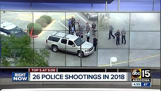 Suspect shot by Mesa police in serious condition - Video