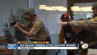 San Diegans undergo active shooter training - Video