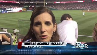 Not guilty plea for man charged with threats against McSally