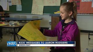 Young Packers fans share well-wishes for Aaron Rodgers - Video