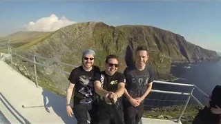 Group of Friends Enjoy Motorbike Trip on Irish Coast - Video