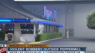 Shooting outside of Peppermill restaurant - Video