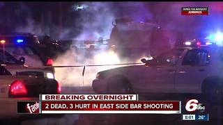 Two dead, three wounded in shooting outside east side bar - Video
