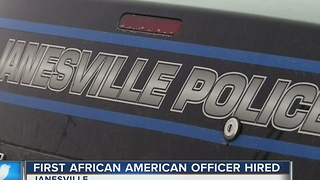 First African American Police Officer Hired at Janesville Police Department - Video