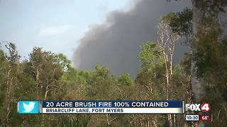 Fire crews were prepared for brush fire - Video
