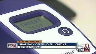 Pharmacy offering flu checks - Video