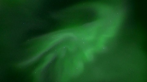 Real time footage of Aurora Borealis over Iceland