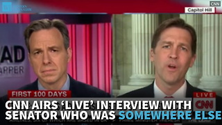 CNN Airs 'Live' Interview With Senator Who Was Somewhere Else - Video