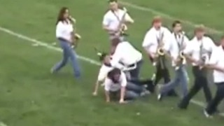 Marching Band Kids Trip Over Each Other - Video