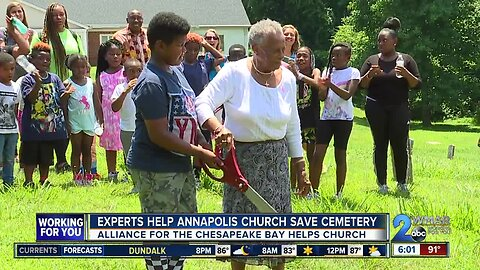 Alliance for the Chesapeake Bay helps fix church cemetery damaged by flooding
