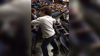 Boy Breaks Out His Dance Moves