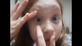 8yr old contact lens insertion Eyedream Orthok 2nd night putting lenses in before bed