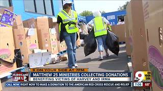 Matthew 25 Ministries collecting donations - Video