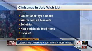 Celebrating Christmas in July to help those in need - Video