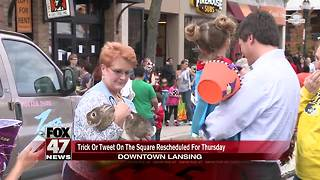 Rain pushes back downtown Lansing trick-or-treating event - Video