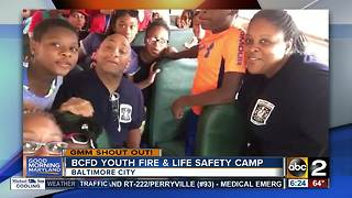 Good morning from the BCFD Youth Fire & Life Safety Camp - Video