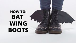 How To Halloween: Bat Wing Boots - Video