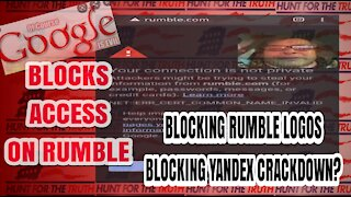 STUNNING GOOGLE CRACKDOWN ON RUMBLE AND YANDEX
