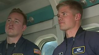 Skydivers talk opening Aviation Nation ceremony - Video