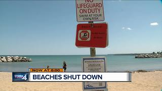 Multiple lakefront beaches closed due to E. coli