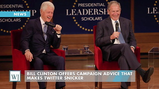 Bill Clinton Offers Campaign Advice That Makes Twitter Snicker - Video