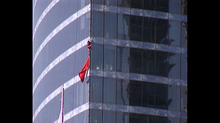 Spiderman Climbs Moscow Skyscraper