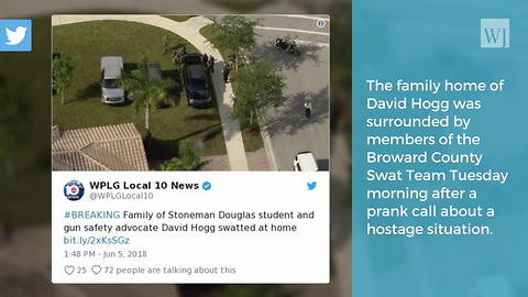 Prank Hostage Call Leads To Police Incident at David Hogg's House