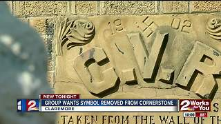 Group wants historic symbol removed - Video