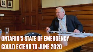 Doug Ford Wants To Extend The State Of Emergency Until June