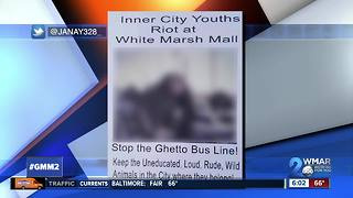 Racist flyer circulates social media after brawl at White Marsh Mall - Video