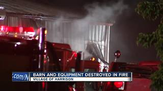 Village of Harrison Barn Fire - Video