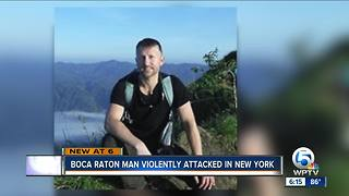 Boca Raton man punched and sent to New York hospital - Video