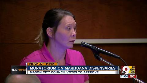 Moratorium on marijuana dispensaries in Mason