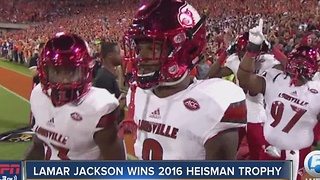 Louisville QB, former Boynton Beach star Lamar Jackson wins 2016 Heisman Trophy - Video