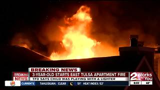 3-Year-Old starts fire at an apartment in East Tulsa - Video