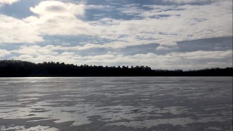 Frozen Lake With Noise Of Lasers And Drumming Sounds Like 'Star Wars' Set