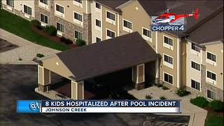 Eight children hospitalized after incident at hotel pool in Johnson Creek - Video