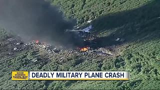 At least 16 killed in military plane crash in Mississippi - Video