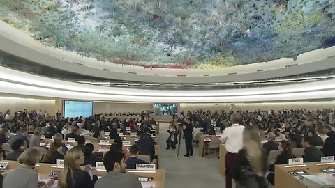 [640x360] Un Live United Nations Web Tv - Meetings & Events - Boris Johnson (United Kingdom) - 1st Meeting, 38th Regular Session Human Rights Council